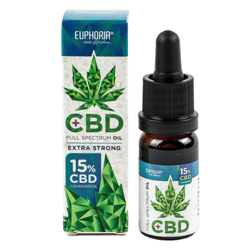 EUPHORIA CBD olej 15%, 10ml, 1500mg