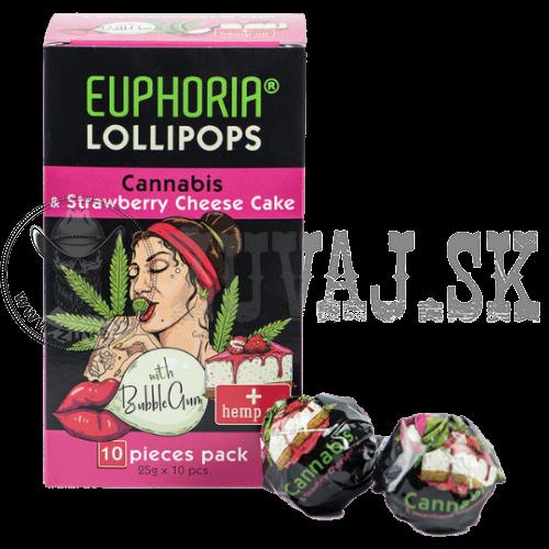EUPHORIA Konopné lízatko Cheesecake (1ks)