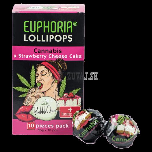 EUPHORIA Konopné lízatko Cheesecake(10ks)