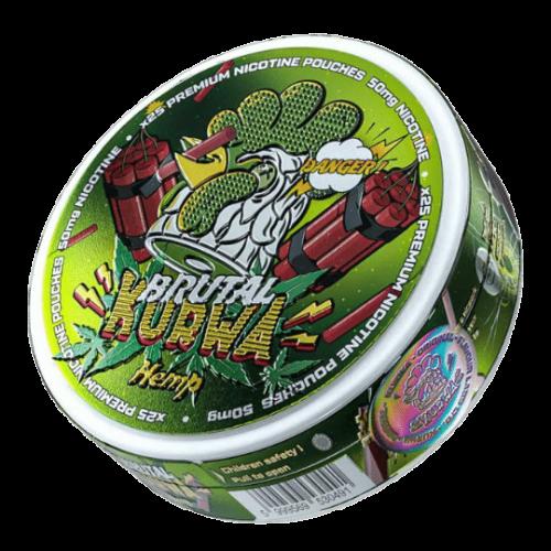 Kurwa Hemp Brutal  nikotínové sáčky