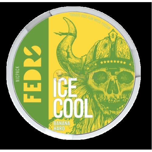 FEDRS Ice Cool Banana Hard 8 nikotínové sáčky