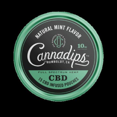 Cannadips Natural Mint Cbd sáčky