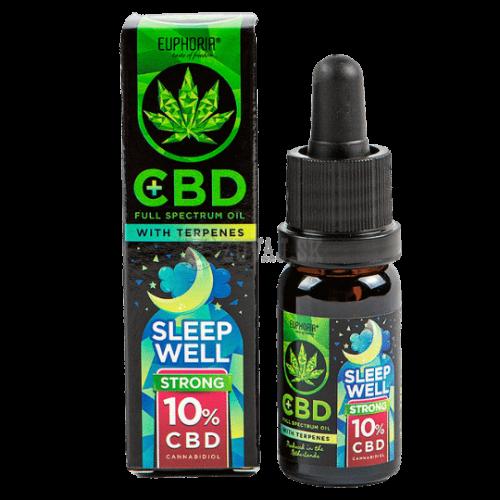 EUPHORIA CBD olej 10% s terpénmi - Sleep Well