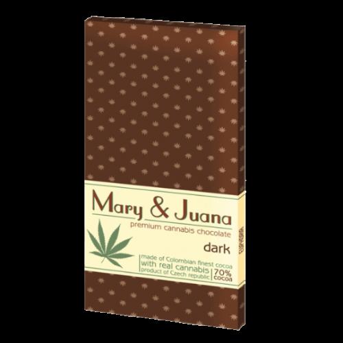 MARY & JUANA Horká Čokoláda s konopným semienkom