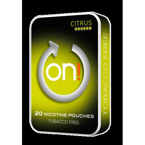 1+1 Zadarmo ON !Citrus 6 mg nikotínové sáčky