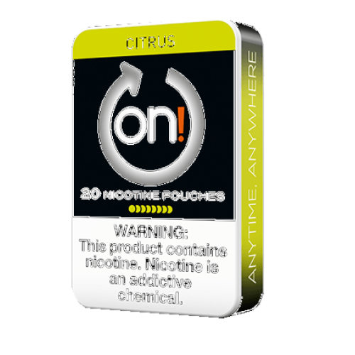 1+1 Zadarmo ON ! Citrus 8 mg nikotínové sáčky