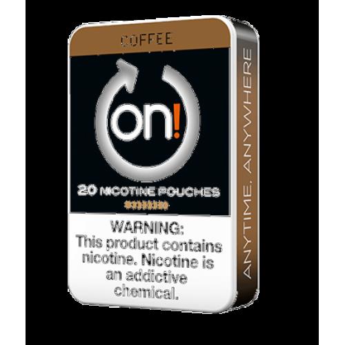 1+1 Zadarmo ON ! Coffee 6 mg nikotínové sáčky