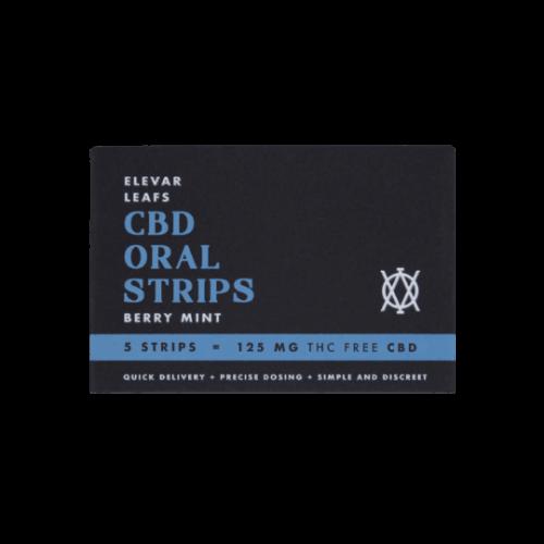 CBD Oral Strips Elevar Leafs Berry Mint