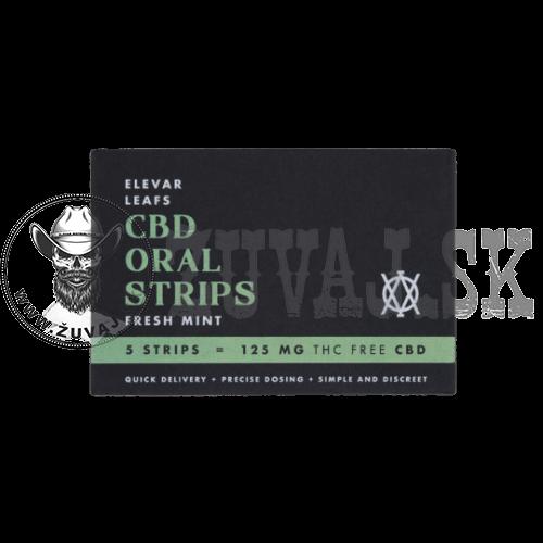 CBD Oral Strips Elevar Leafs Fresh Mint